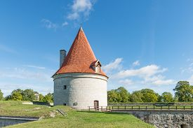 Kuraeessre Castle Island of Saaremaa Estonia -27th of August 2016: Kuressaare Episcopal Castle island of Saaremaa Estonia. Kuressaare castle is considered one of the best preserved medieval fortifications in Estonia.