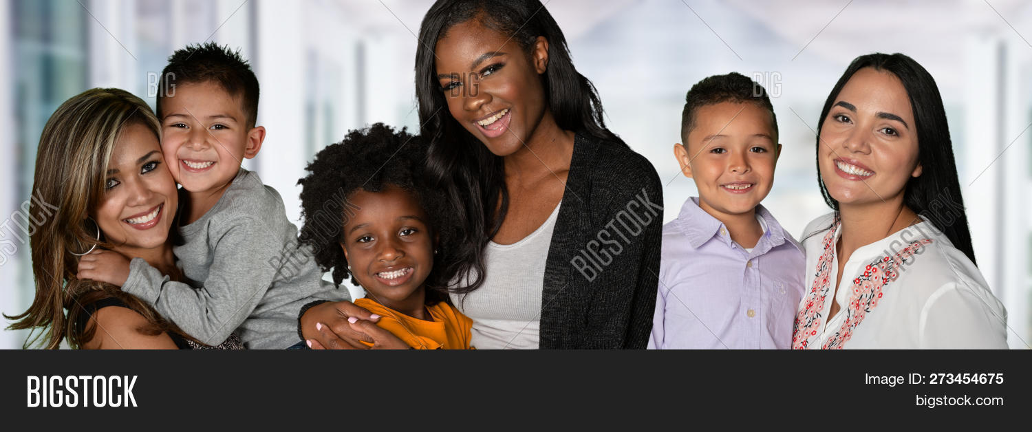 Family families mother mom child african american indian minority