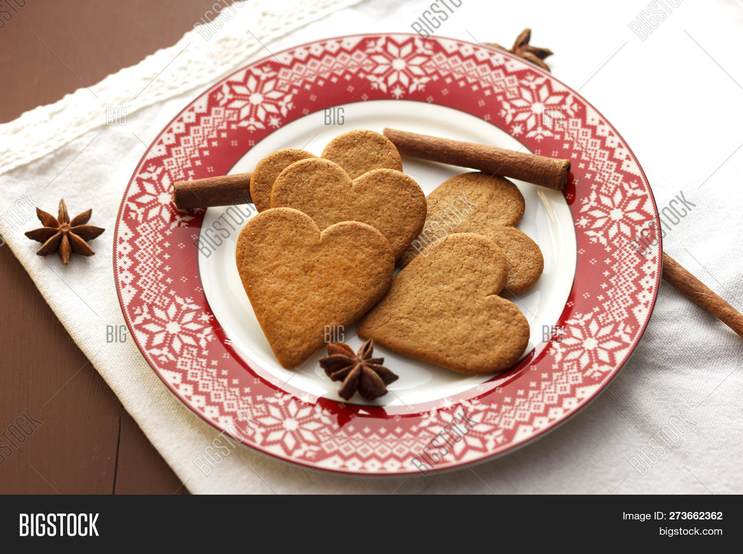 Gingerbread Heart Image Photo Free Trial Bigstock