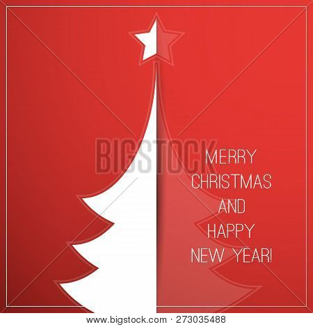 Seasons Greetings, Christmas And New Year Card Design Template
