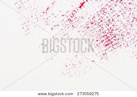 Red Abstract Spotted Acrylic Art Background. Color Texture. Fragment Of Artwork. Spots Of Paint.mode