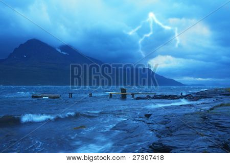 Storm at Sea, Norway poster