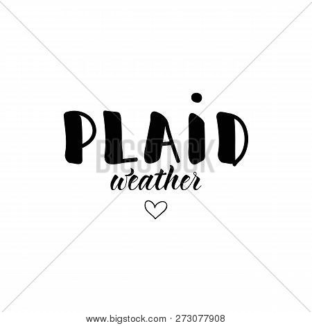 Plaid Wather. Ink Hand Lettering. Modern Brush Calligraphy. Inspiration Graphic Design Typography El