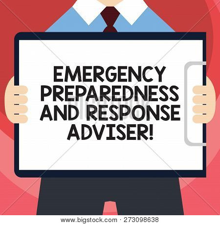 Handwriting Text Writing Emergency Preparedness And Response Adviser. Concept Meaning Be Prepared Fo