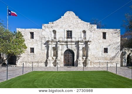 Main entrance to the Alamo in San Antonio Texas poster