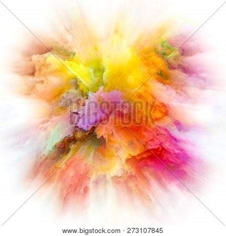 Perspectives Of Colorful Paint Splash Explosion