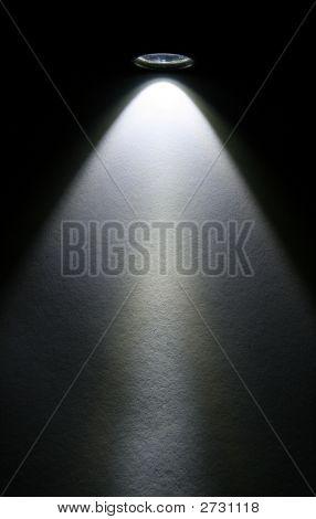 Led Flashlight Beam On Paper.