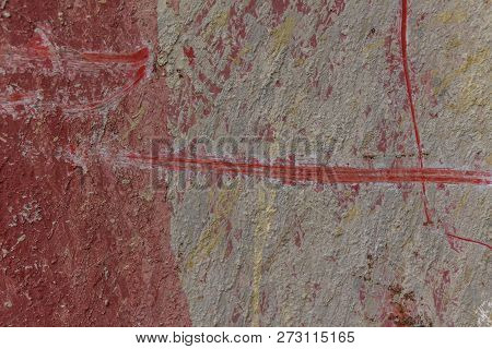 Red Metal Background Texture, Metal Steel Vintage Plate With Some Old Scratch, Red Metal Plate