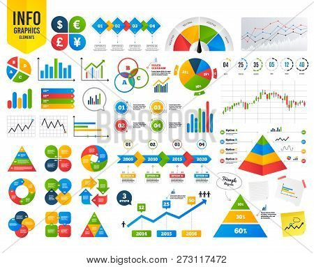 Business Infographic Template. Dollar, Euro, Pound And Yen Currency Icons. Usd, Eur, Gbp And Jpy Mon