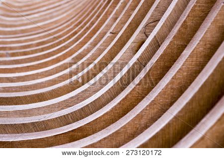 Background Of Couple Wooden Panels With Perspective. Bench, Concept