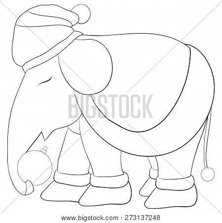 Christmas Boots Drawing.Cartoon Elephant Vector Photo Free Trial Bigstock