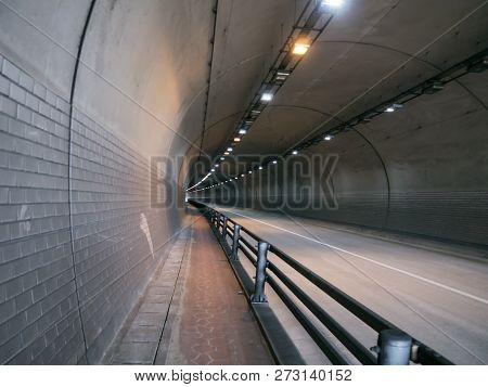 The Road Tunel In Yeousu City, South Korea