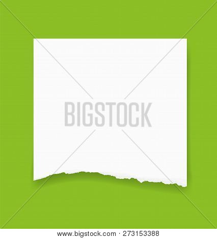 Torn Paper Edges For Background. Ripped Paper Texture Background With Area For Copy Space. Vector Il