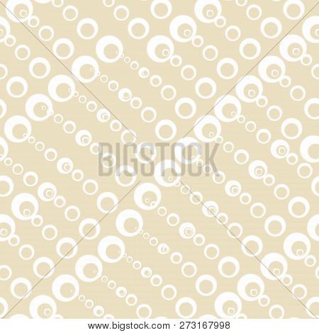 Seamless Textures With Circles Of Different Sizes. Fashionable Patterns Of Spring 2019.  Pastel Colo