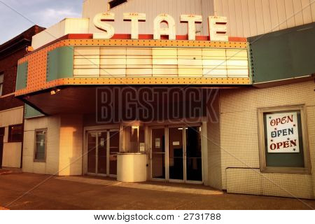 Vintage Theater In The Midwestern United States