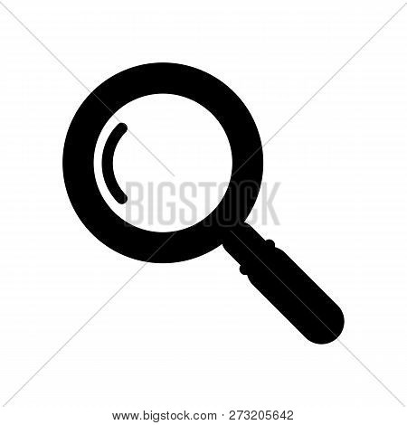 Magnifier Icon Vector In Modern Flat Style For Web, Graphic And Mobile Design. Magnifier Icon Vector
