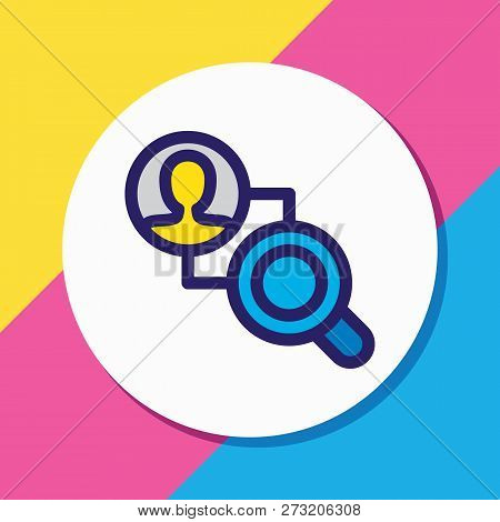 Vector Illustration Of Competitor Analysis Icon Colored Line. Beautiful Marketing Element Also Can B