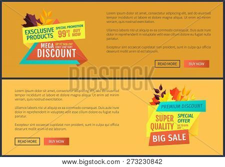 Exclusive Product Special Promotion Posters Set. Super Quality Big Sales Best Prices Reduction Of Co