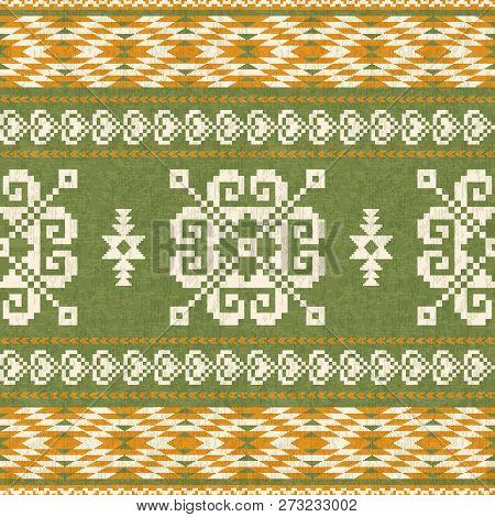 Geometric Pattern In Ethnic Style