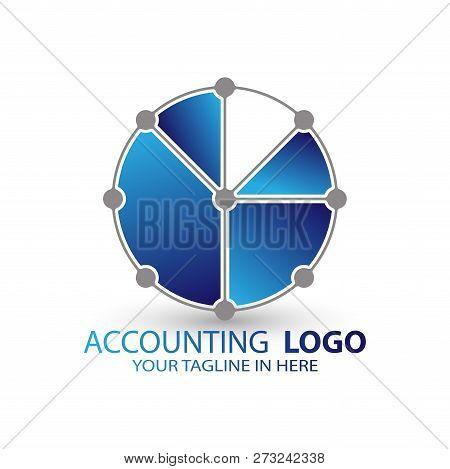 Accounting Logo With A Circle Diagram, Vector Design