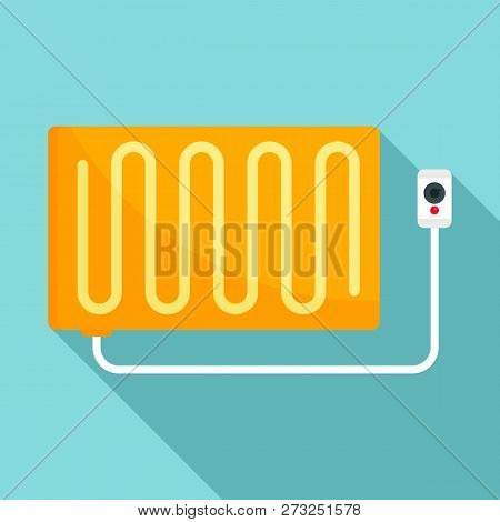 Warm Electric Blanket Icon. Flat Illustration Of Warm Electric Blanket Vector Icon For Web Design