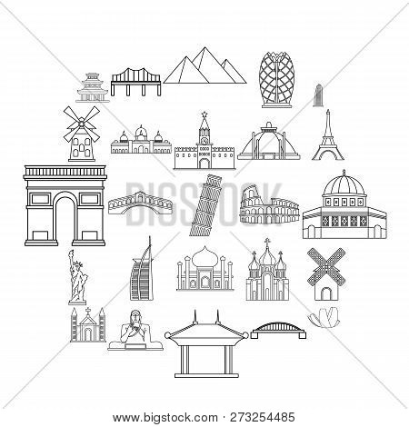 Recreation Area Icons Set. Outline Set Of 25 Recreation Area Vector Icons For Web Isolated On White