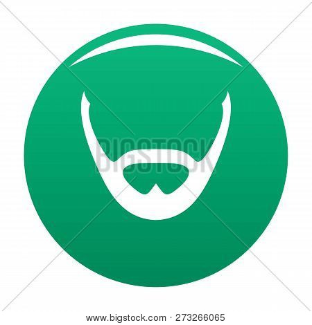 Beard And Whiskers Icon. Simple Illustration Of Beard And Whiskers Vector Icon For Any Design Green