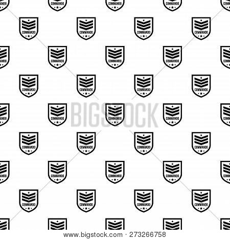 Commando Badge Pattern Seamless Vector Repeat Geometric For Any Web Design