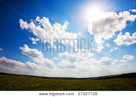 Beautiful blue sky landscape