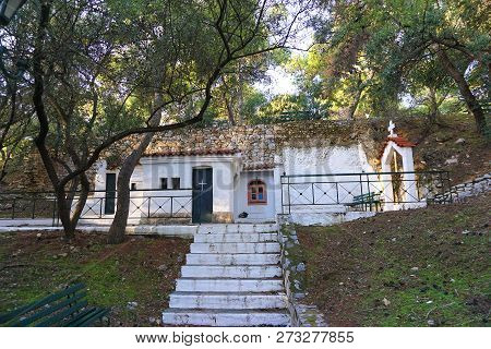 Little Church In The Philopappos Hill In Athens