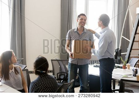 Boss Is Introducing Just Hired Male Employee