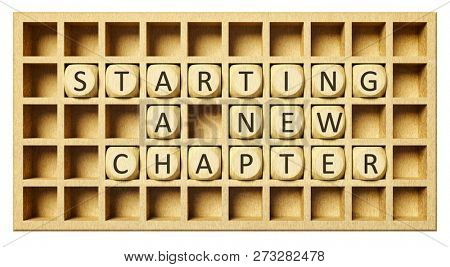 a wooden grid with cubes start a new chapter 3d illustration