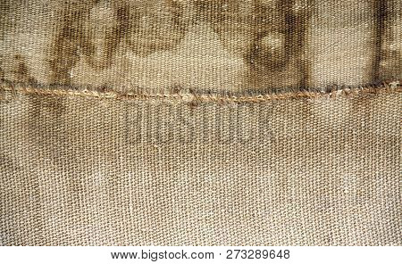 Grunge background with natural brown old sackcloth texture