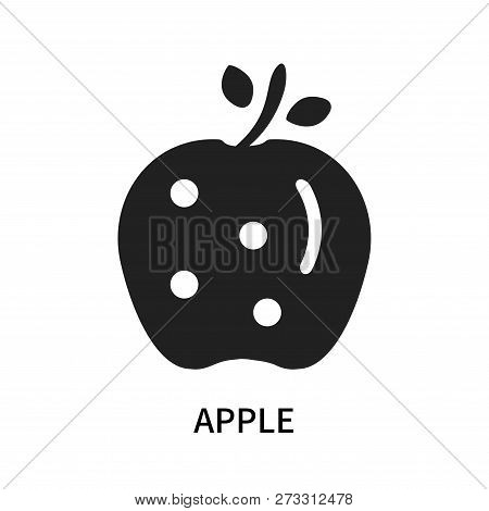 Apple Icon Isolated On White Background. Apple Icon Simple Sign. Apple Icon Trendy And Modern Symbol