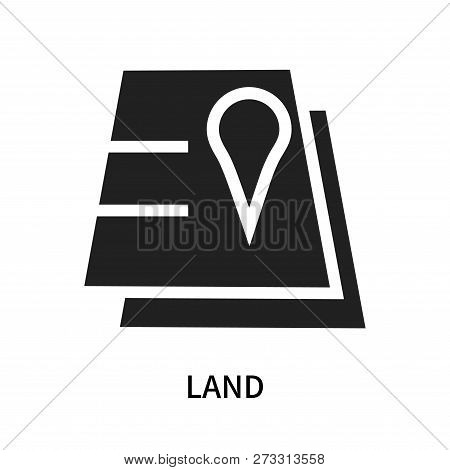 Land Icon Isolated On White Background. Land Icon Simple Sign. Land Icon Trendy And Modern Symbol Fo