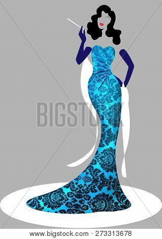 Shop Logo Fashion Woman, Colorful Silhouette Diva. Company Brand Name Design, Beautiful Luxury Cover