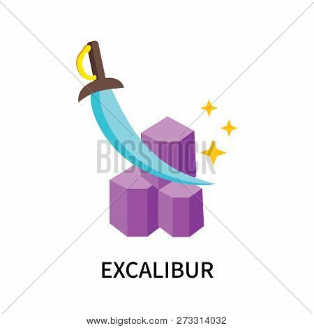 Excalibur Icon Isolated On White Background. Excalibur Icon Simple Sign. Excalibur Icon Trendy And M