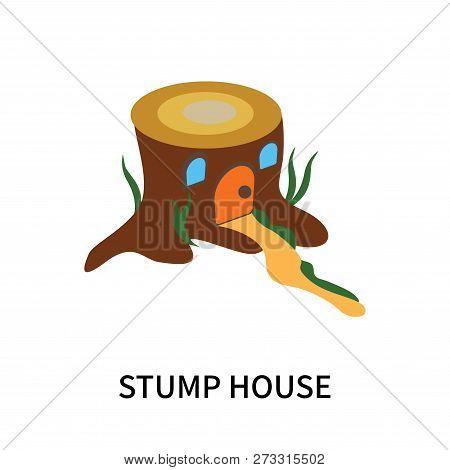 Stump House Icon Isolated On White Background. Stump House Icon Simple Sign. Stump House Icon Trendy