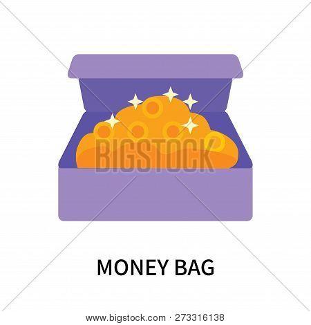 Money Bag Icon Isolated On White Background. Money Bag Icon Simple Sign. Money Bag Icon Trendy And M