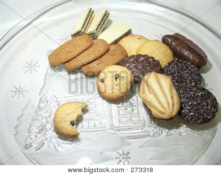 Cookies On Holiday Plate