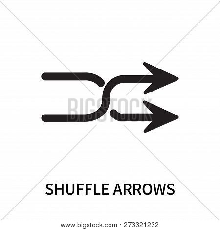 Shuffle Arrows Icon Isolated On White Background. Shuffle Arrows Icon Simple Sign. Shuffle Arrows Ic