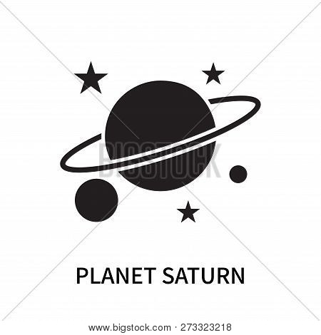 Planet Saturn Icon Isolated On White Background. Planet Saturn Icon Simple Sign. Planet Saturn Icon