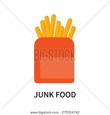 Junk Food Icon Isolated On White Background. Junk Food Icon Simple Sign. Junk Food Icon Trendy And M