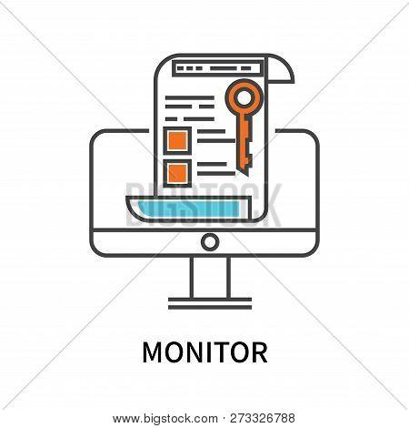 Monitor Icon Isolated On White Background. Monitor Icon Simple Sign. Monitor Icon Trendy And Modern