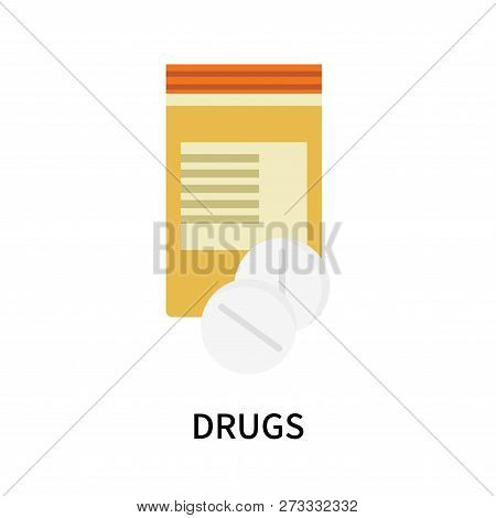 Drugs Icon Isolated On White Background. Drugs Icon Simple Sign. Drugs Icon Trendy And Modern Symbol