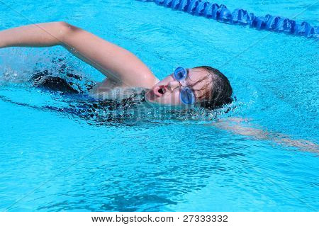 Swimmer during practice(Freestyle)