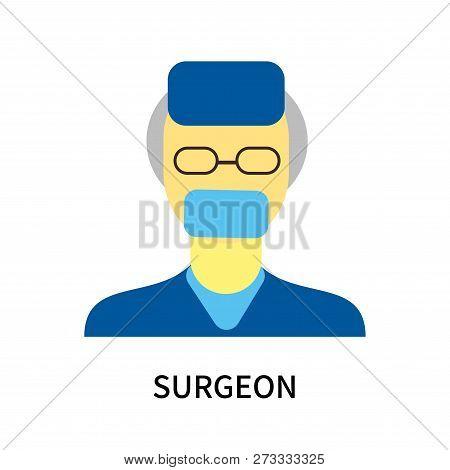 Surgeon Icon Isolated On White Background. Surgeon Icon Simple Sign. Surgeon Icon Trendy And Modern