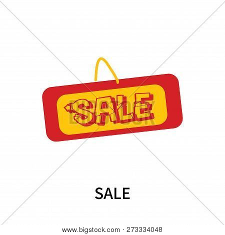 Sale Icon Isolated On White Background. Sale Icon Simple Sign. Sale Icon Trendy And Modern Symbol Fo