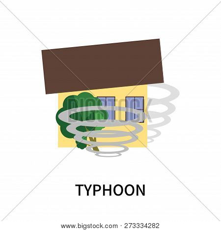 Typhoon Icon Isolated On White Background. Typhoon Icon Simple Sign. Typhoon Icon Trendy And Modern