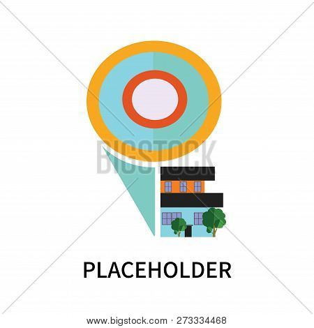 Placeholder icon isolated on white background. Placeholder icon simple sign. Placeholder icon trendy and modern symbol for graphic and web design. Placeholder icon flat vector illustration for logo, web, app, UI. poster
